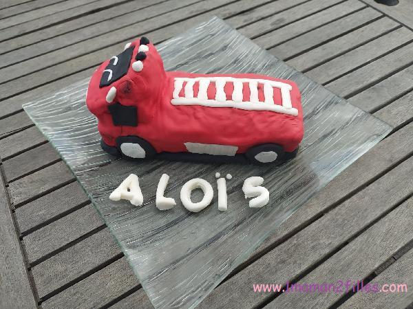 gâteau camion de sam le pompier