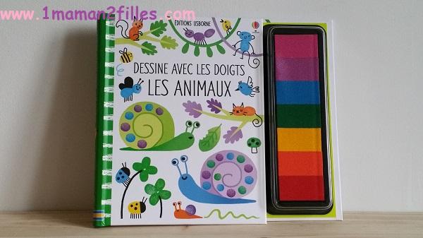 1maman2filles livre activité dessine avec tes doigts les animaux