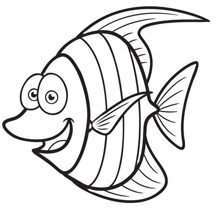 1maman2filles coloriage poisson 2