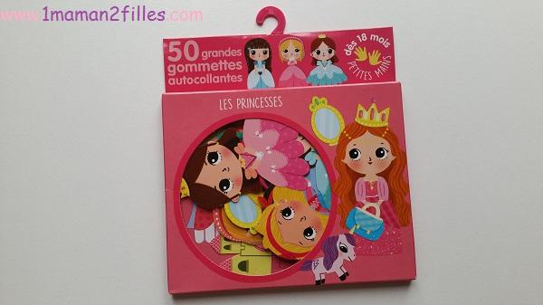 1maman2filles activité gommettes les princesses