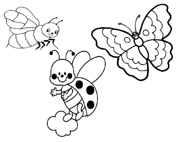 1maman2filles coloriage insectes