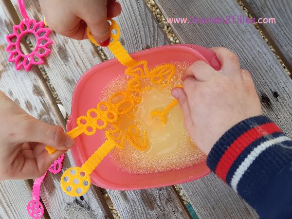 bulles de savon maison pâte durcissante