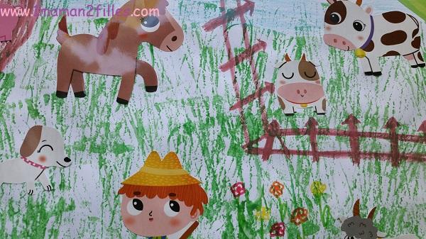 1maman2filles-activite manuelle enfants la ferme 2