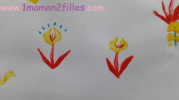 1maman2filles activité peinture naturel avec une tige de yucca 3