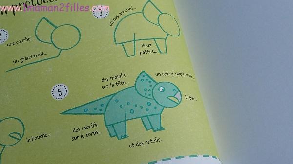 1maman2filles livres enfants activités je dessine pas à pas les dinosaures 2