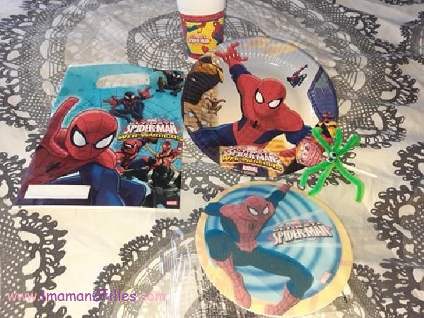 décorations spiderman