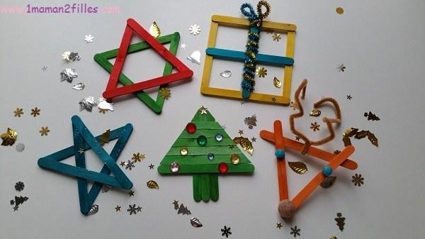 décorations en bâtonnets - bonhomme-neige-pere-noel-renne-activites-1maman2filles