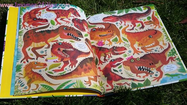 1maman2filles livres enfants cherche et trouve les dinosaures 1