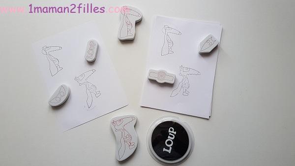 coffret-enfants-multi activités-loup-peinture-platre-pate-modeler