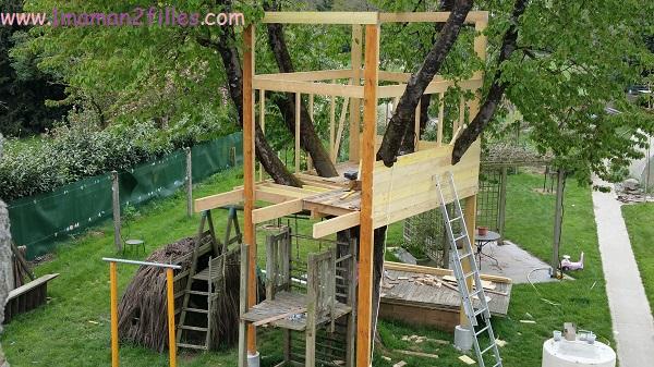1maman2filles activités nature avec papa cabane dans les arbres 2