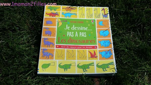 1maman2filles livres enfants activités je dessine pas à pas les dinosaures