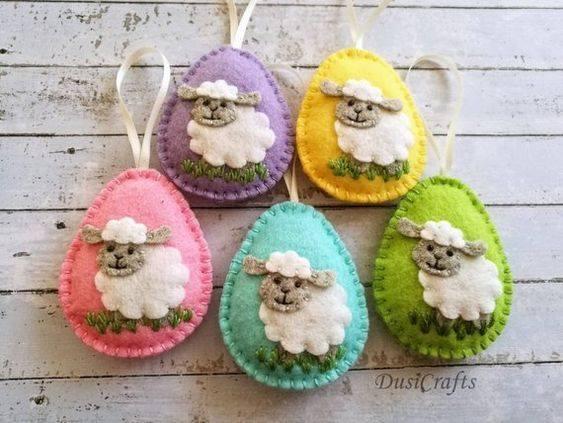 mouton en feutrine