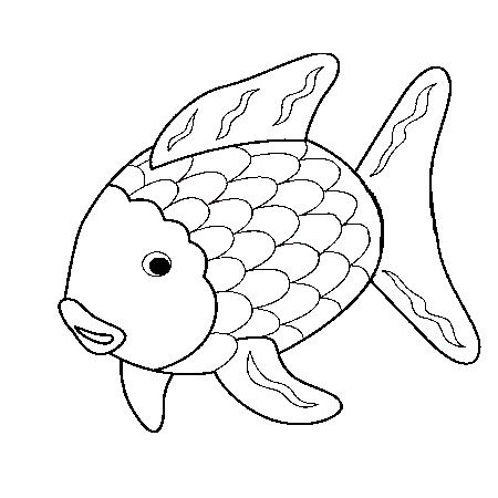 1maman2filles coloriage poisson arc en ciel