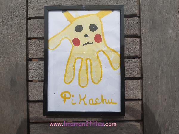pikachu avec peinture SES créative ECO