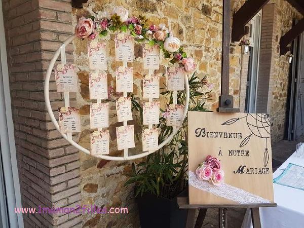 décoration mariage entrée de salle