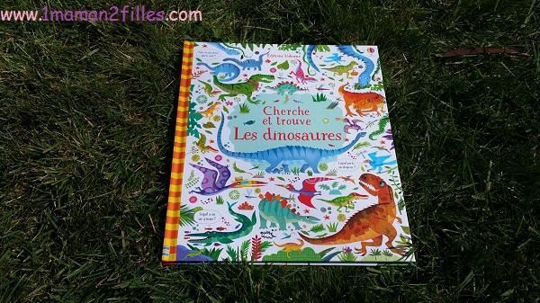 1maman2filles livres enfants cherche et trouve les dinosaures