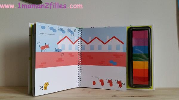 1maman2filles livre activité dessine avec tes doigts les animaux 1