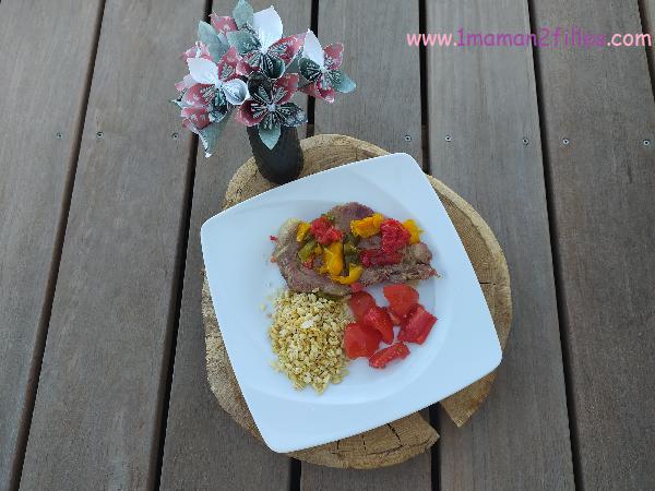 Deux ingrédients : échine aux poivrons récapitulatif août