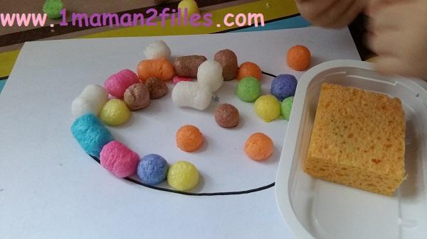 1maman2filles activités manuelles oeuf de pâques 5