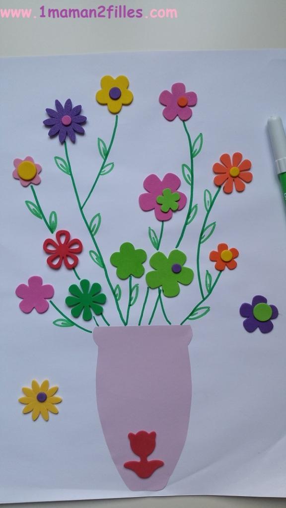 1maman2filles activités manuelles vase printannier 1