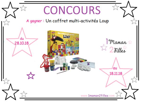 coffret-enfants-multi activités-loup-peinture-platre-pate-modeler-concours