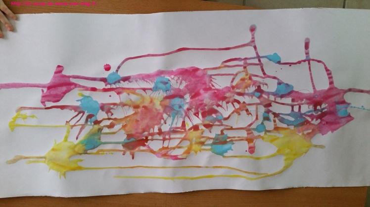 1maman2filles flop en top peinture-coulee 2