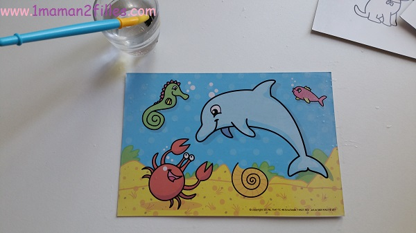 1maman2filles-activite manuelle enfants my first creation peinture magique eau 13
