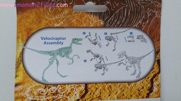 1maman2filles activités enfants découverte d'un fossil de dinosaure 1