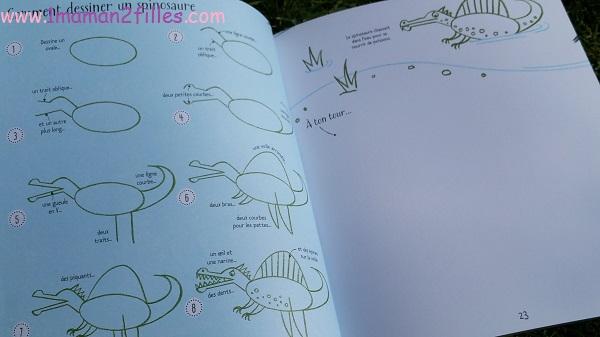 1maman2filles livres enfants activités je dessine pas à pas les dinosaures 1