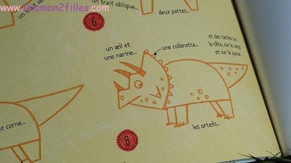 1maman2filles livres enfants activités je dessine pas à pas les dinosaures 12