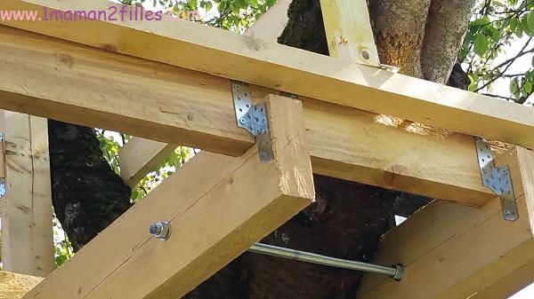 1maman2filles activités nature avec papa cabane dans les arbres 6