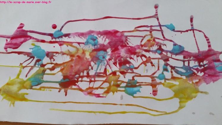 1maman2filles flop en top peinture-coulee 1