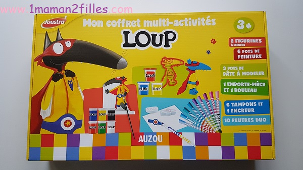coffret-enfants-multi-activités-loup-peinture-platre-pate-modeler