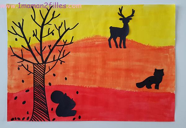 activites-manuelles-enfants-automne-paysages-feuilles-peinture