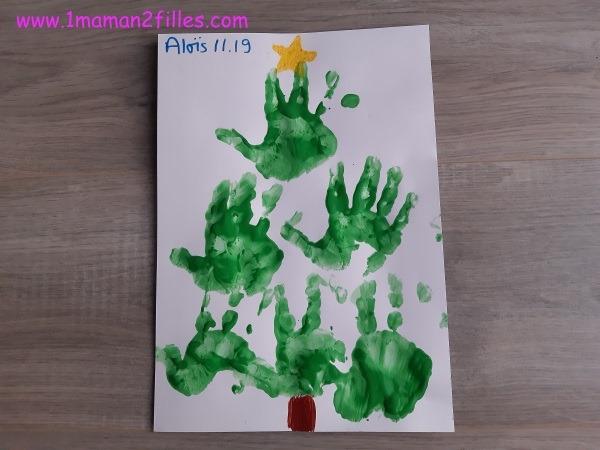 le beau sapin fait en peinture à la main