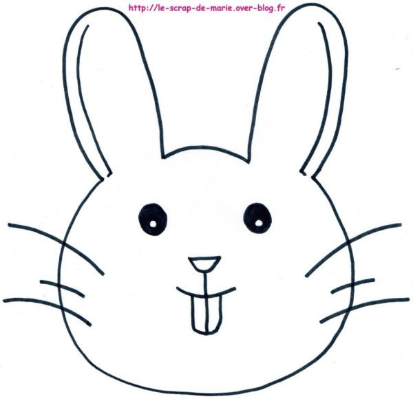 tête de lapin à colorier