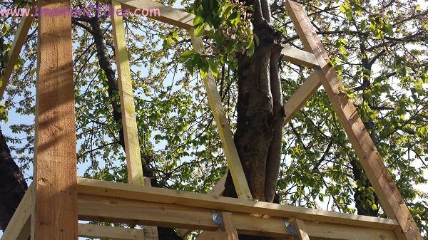 1maman2filles activités nature avec papa cabane dans les arbres 7